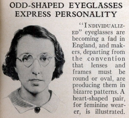 1936 Heart shaped glasses