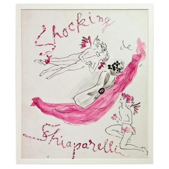 "Schiaparelli ""Shocking"" Illustration by Marcel Vertes, 1938"