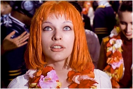 Orange Hair, Milla Jovovich in The Fifth Element 1997