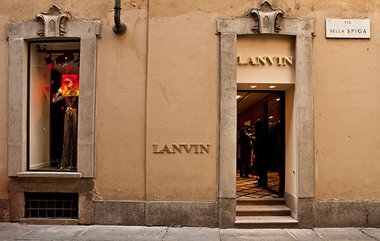 Lanvin First Italian Store in Milan
