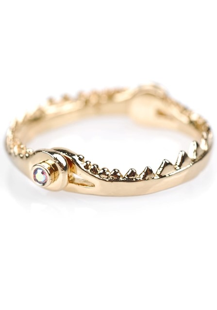 Shark Jaw Ring (Gold)