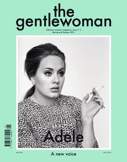Adele on the cover of the gentlewoman