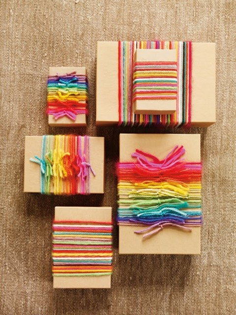 Rainbow yarn wrappings