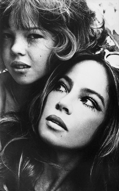Leslie Caron & her Daughter by Patrick Litchfield