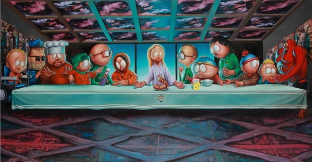 LAST SUPPER IN SOUTH PARK - RON ENGLISH