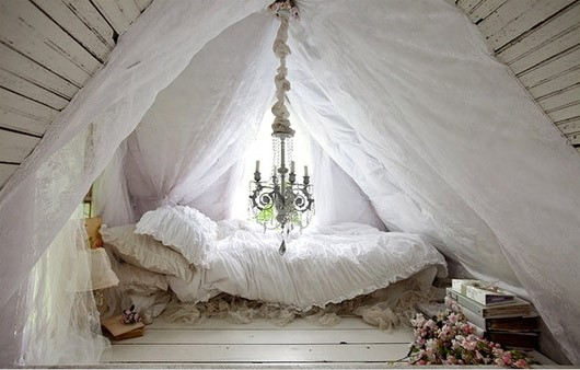 fluffy tent