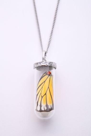 Bjorg Caged Wing Necklace