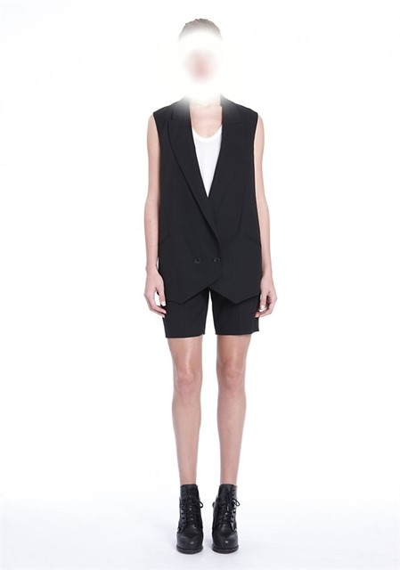 Core Oversized Double Breasted Vest - Alexander Wang