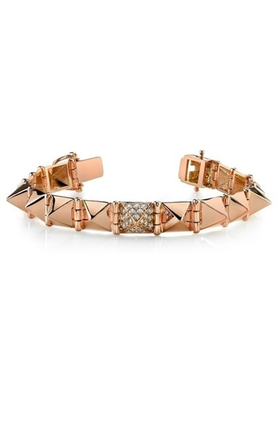 Anita Ko Large Spike Bracelet with Diamond Accents