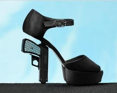 Chanel pistol-heeled shoes