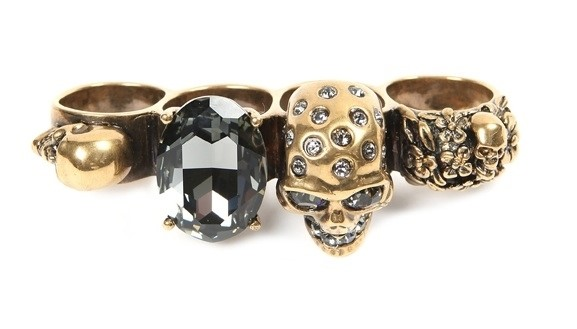 McQueen gold knuckle duster