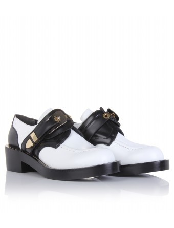 BALENCIAGA DERBY TWO-TONE SHOES