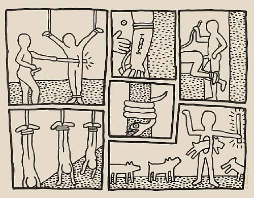Keith Haring Pl. 5, from The Blueprint Drawings, 1990