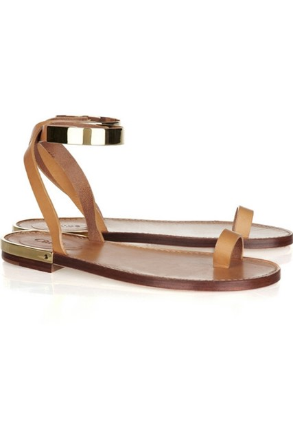Chloé Metal and leather sandals