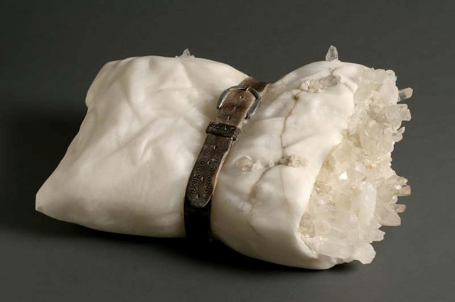 Debra Baxter _pillow with grandfather's leather belt