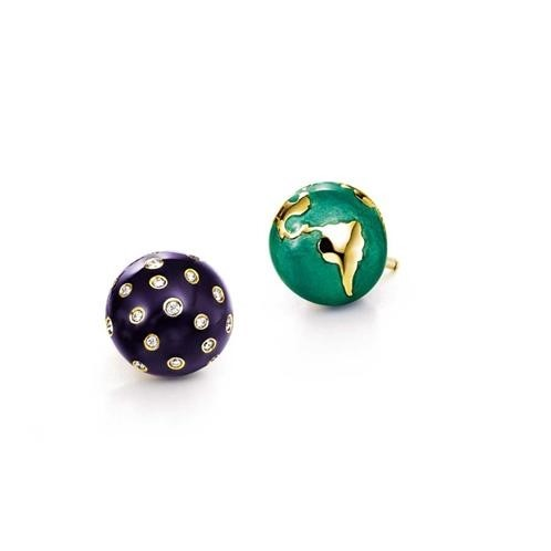 Verdura Night & Day Earstuds
