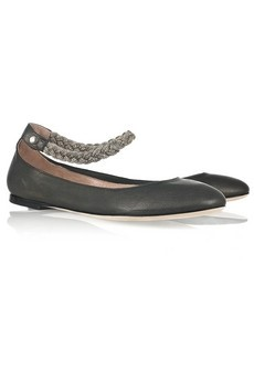 Braided metal strap shoes by Chloe