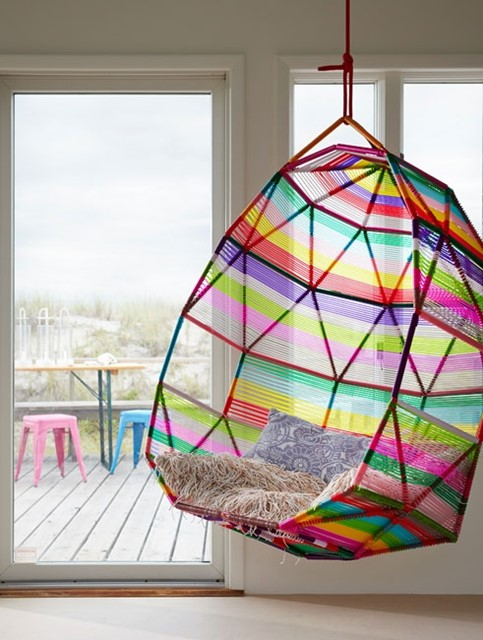 Colorful cozy swing