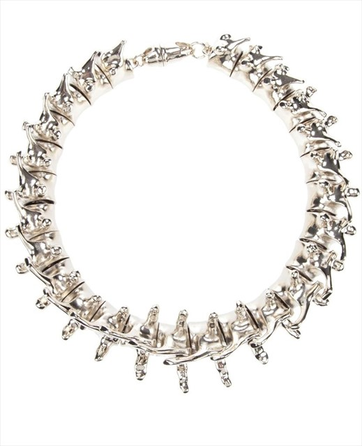 Givenchy silver spine necklace