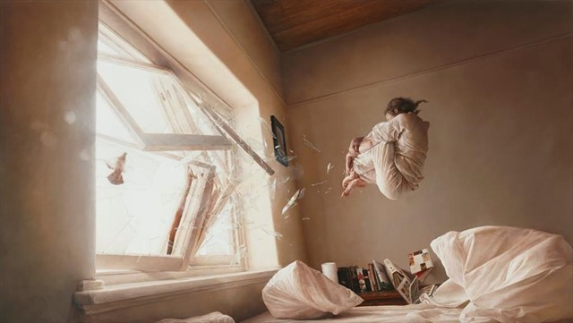'A Perfect Vacuum' oil painting by Jeremy Geddes