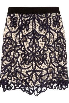 3.1 Phillip Lim / Embroidered hairpin-lace skirt