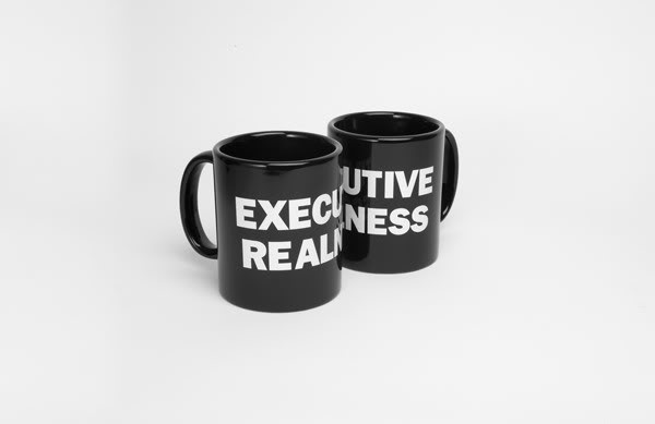 Executive Realness mugs from I Love Hotdogs