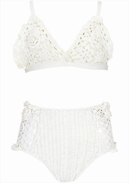 Topshop Crochet bra and knickers from the secret pop-up store