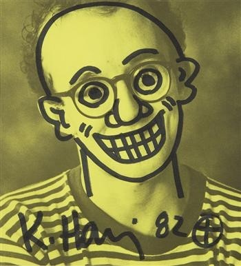 Keith Haring, Untitled (Self-Portrait) 1982