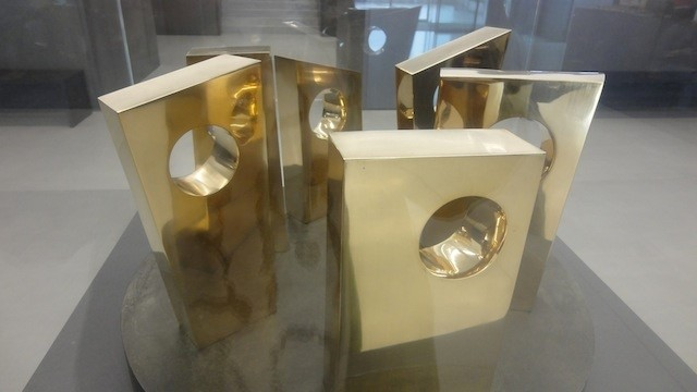 BARBARA HEPWORTH SIX FORMS ON A CIRCLE 1967 AT THE NEWLY-OPENED HEPWORTH WAKEFIELD