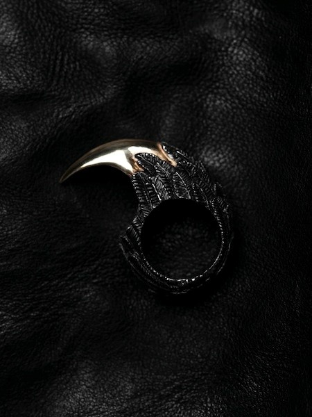 18CT GOLD/SILVER/BLACK  RODIUM CLAW RING BY DUFFY
