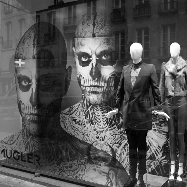 MUGLER window at Colette Paris