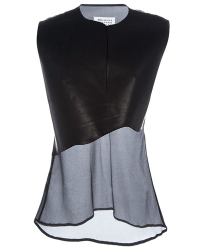 MAISON MARTIN MARGIELA - Sheer panelled top