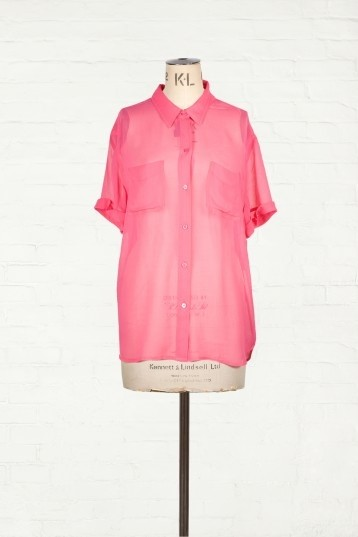 Equipment / Berry Short Sleeve Silk Shirt