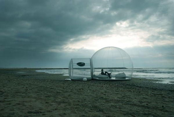 RECYCLABLE 'CRISTALBUBBLE'  DWELLING BY STEPHANE DUMAS