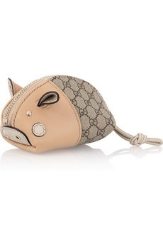 Little pig leather coin purse by Gucci