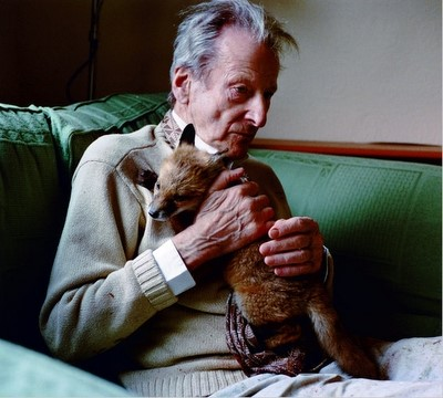 Lucian Freud and his Fox