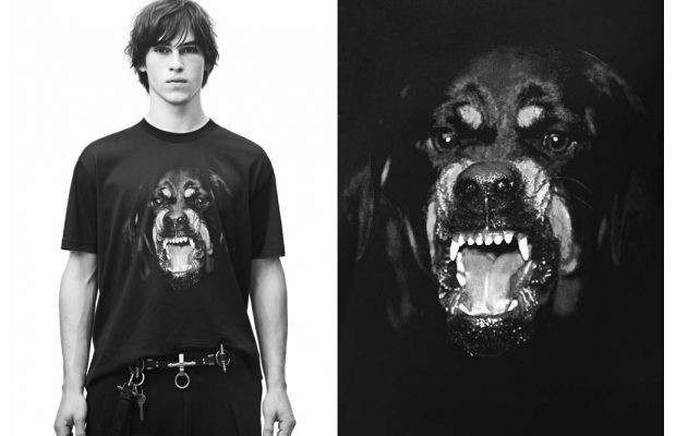 GIVENCHY LIMITED EDITION 'WATCH THE THRONE' ROTTWEILER TEE