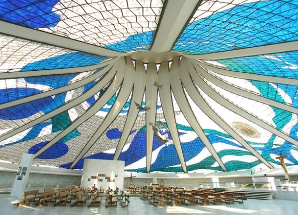 'Metropolitan Cathedral of Our Lady Aparecida' Brasilia, by Oscar Neimeyer