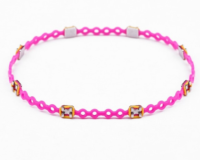 Hot pink and yellow Braced-Let