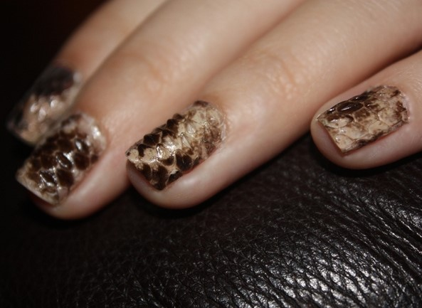 Real Snakeskin Nails.