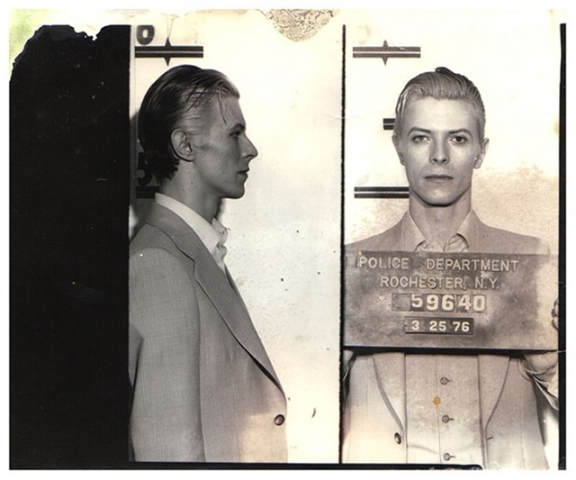 David Bowie Mug Shot