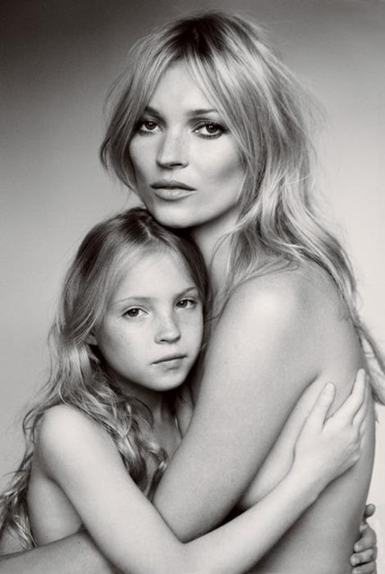 Kate and Lila Grace by Mario Testino, 2011