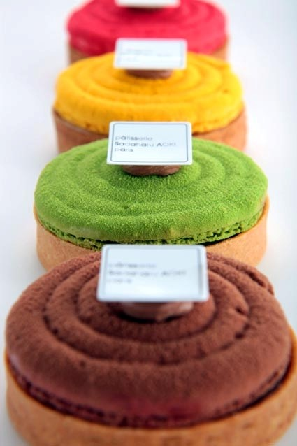 Multicoloured Tartes, by Sadaharu Aoki