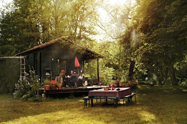 Isabel Marant's rustic cabin in Fontainebleu