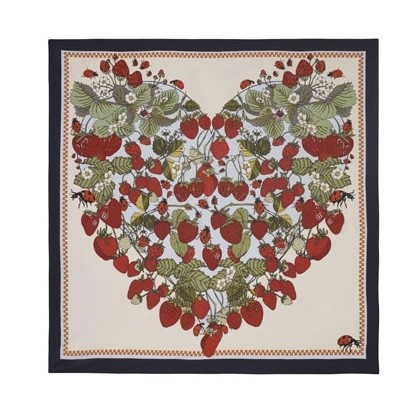 Succulent Strawberries Silk Scarf by Silken Favours