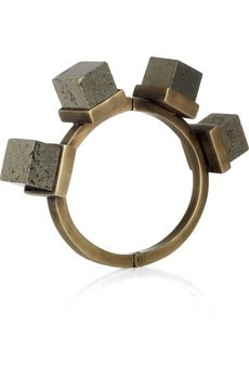 Pyrite and Brass Bangle by Kelly Wearstler