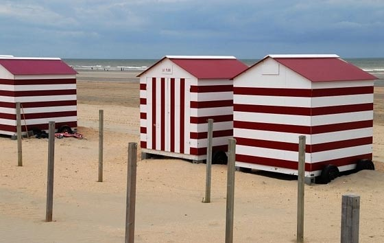 Stripey beach huts at Deauville