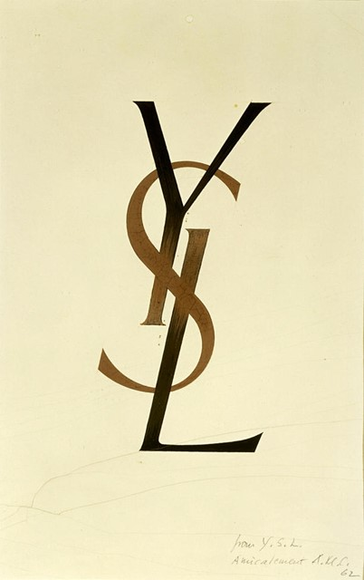 The original YSL logo by Adolphe Mouron Cassandre