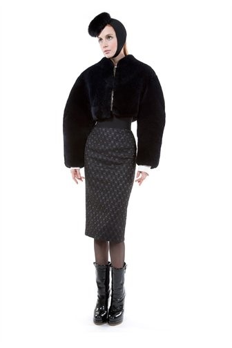 Sheared Fox Cropped Jacket - Marc Jacobs
