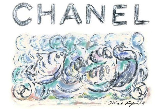 Illustration for Chanel S/S11 show invite